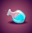 Bottle with liquid Magic Elixir vector image vector image