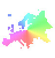 bright sphere dot europe map vector image