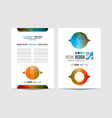 brochure template flyer design or depliant cover vector image vector image
