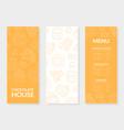 chocolate house menu card template