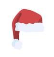 christmas hat santa claus red vector image vector image