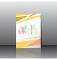 City panorama business card vector image vector image