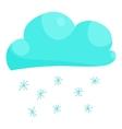 Cloud snow icon cartoon style vector image