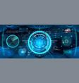 cockpit helmet futuristic vr vector image vector image
