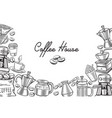 coffee template page design vector image