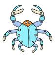 Crab Doodle vector image