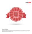cupboard wardrobe icon - red ribbon banner vector image vector image