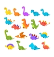 Cute Cartoon Dinosaurs Set vector image