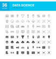 data science line web glyph icons vector image vector image