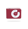 digital mini mp3 player flat design icon vector image vector image