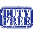 Duty Free stamp vector image vector image