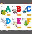 educational cartoon alphabet letters vector image vector image