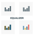 equalizer icon set four elements in diferent vector image