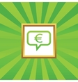 Euro message picture icon vector image vector image