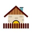 Farm house icon vector image vector image