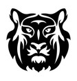 flat icon stylized face a tiger vector image vector image