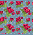 flowery seamless pattern vector image vector image