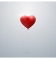 flying red balloon heart vector image vector image