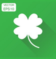 four leaf clover icon business concept lover vector image