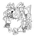 Funny doodle art school education vector image vector image