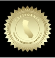 Gold star label California vector image vector image