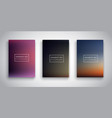 gradient sunset sky backgrounds vector image