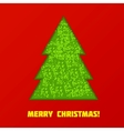 Green Cristmas tree vector image vector image
