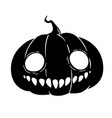 halloween pumpkin with fanged smile vector image