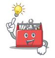 have an idea tool box character cartoon vector image