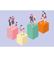 Isometric Infographic Family Types - LGBT included vector image