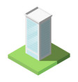 Isometric of modern office tall building for icon
