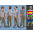 Isometric service man in four position vector | Price: 5 Credits (USD $5)