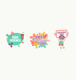 kids science creative class banners stickers or vector image vector image