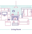 Living Room Line Design vector image