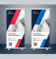 modern business vertical standee design vector image vector image