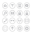 Modern social media buttons with soft shadow vector image