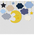 moon and stars border transparent background vector image vector image