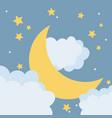 moon at night cartoon vector image