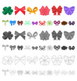 multicolored bows cartoon icons in set collection vector image