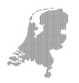netherlands map country abstract silhouette of vector image vector image