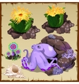 Octopus is resting on the seabed vector image vector image