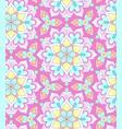 pastel mandala pattern vector image vector image