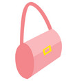 pink stylish handbag woman female accessories vector image vector image