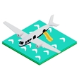 plane splashed down vector image vector image