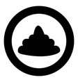poo black icon in circle isolated vector image