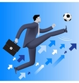 Put the ball in the game business concept vector image vector image