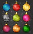 realistic christmas baubles vector image