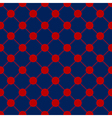 Red Polka dot Chess Board Grid Navy Blue vector image vector image