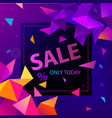 sale faceted 3d banner poster colorful vector image