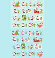 santa reindeer snow maiden ice princess elf set vector image